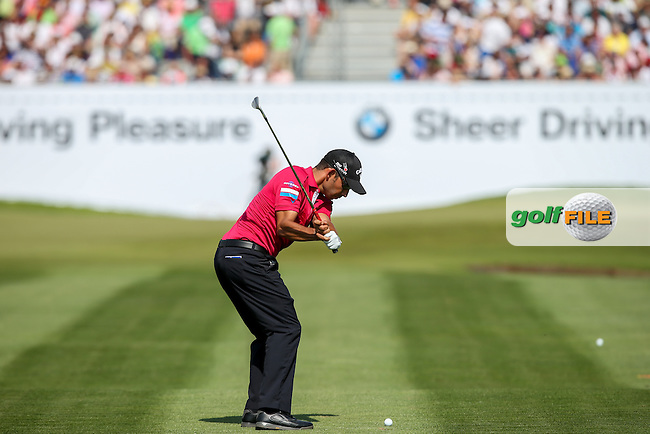 Pablo Larrazabal (ESP) plays approach shot to the last during the Final Round of the 2015 BMW International Open at Golfclub Munchen Eichenried, Eichenried, Munich, Germany. 28/06/2015. Picture David Lloyd | www.golffile.ie