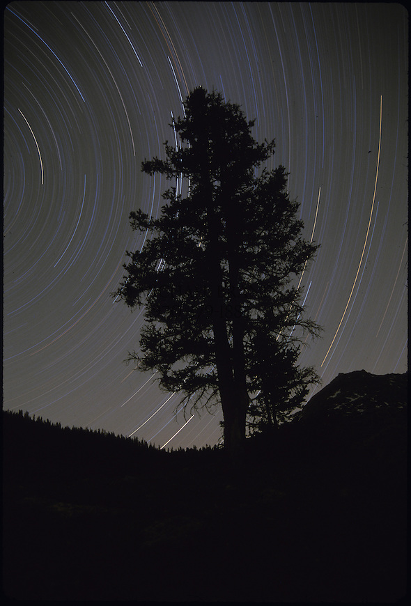 Time exposure and star trails near Aspen, CO. © Michael Brands, 2008