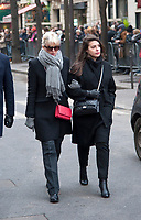 January 12 2018, Paris, France - Funerals of Singer France Gall in Montmartre Cemetery in Paris. Actress Cecile Cassel is present. # OBSEQUES DE FRANCE GALL AU CIMETIERE DE MONTMARTRE