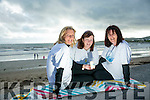 Celebration of Light in aid of recovery Haven on BALLYHEIGUE  beach on Monday. Pictured Susan Lacey,  Helen Geary, Ann O'Leary