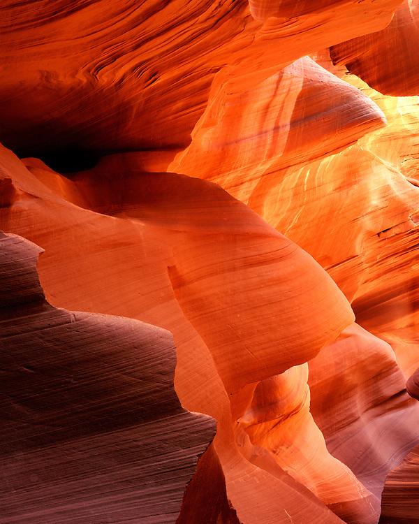 Slot canyon in Antelope Canyon; Navajo Nation, AZ
