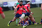 NELSON, NEW ZEALAND - August 12: Billy Guyton clears the ball Tasman Makos v Manawatu Preseason at  Trafalgar Park on August 12 2016 in Nelson, New Zealand. (Photo by: Evan Barnes Shuttersport Limited)