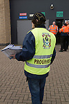 Coventry City 1 Birmingham City 1, 10/03/2012. Ricoh Arena, Championship. A programme selling waiting for customers outside the Ricoh Arena, pictured before Coventry City hosted Birmingham City in an Npower Championship fixture. The match ended in a one-all draw, watched by a crowd of 22,240. The Championship was the division below the top level of English football. Photo by Colin McPherson.