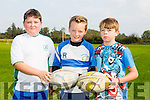 Enjoying the Tralee Rugby Club Family Fun Day at O'Dowd Park on Sunday were l-r Eoin Buckley, Mike Healy and Aaron Murphy