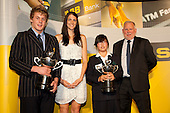 Young Sportsman and Sportswoman of the Year, Jacko Gill and Cecilia Cho with Anna Scarlett and Fred Revell. ASB College Sport Young Sportsperson of the Year Awards held at Eden Park, Auckland, on November 11th 2010.