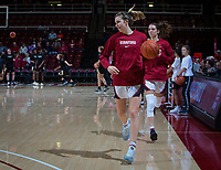 Stanford, CA - January 24, 2020: Estella Moschkau at Maples Pavilion. The Stanford Cardinal defeated the Colorado Buffaloes in overtime, 76-68.