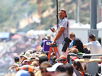 Jul 23, 2017; Morrison, CO, USA; NHRA photographer Will Lester during the Mile High Nationals at Bandimere Speedway. Mandatory Credit: Mark J. Rebilas-USA TODAY Sports