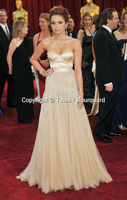 Milley Cyrus _339   -<br /> 82nd Academy Awards arrival at the Kodak Theatre In Los Angeles.