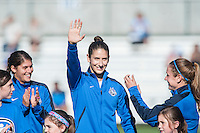 Kansas City, MO - Sunday September 11, 2016: Yael Averbuch prior to a regular season National Women's Soccer League (NWSL) match between FC Kansas City and the Chicago Red Stars at Swope Soccer Village.