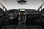 Stock photo of straight dashboard view of a 2018 Lexus NX Executive Line 5 Door SUV