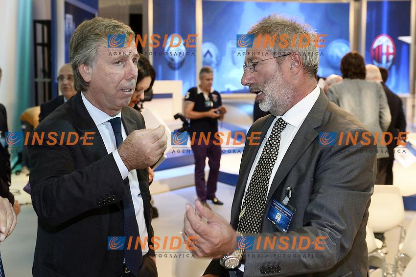 Milano 28/07/2014 - presentazione calendari serie A stagione 2014-2015 / foto Daniele Buffa/Image Sport/Insidefoto<br /> nella foto: Enrico Preziosi-Giorgio Lugaresi