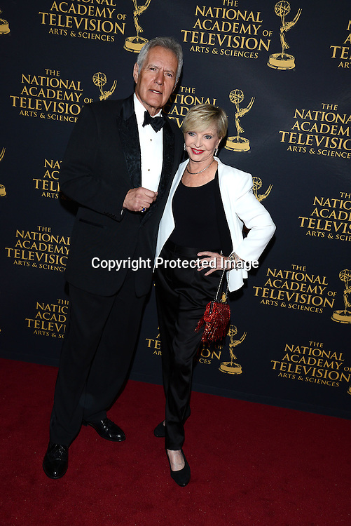 Alex Trebeck and Florence Henderson attends the Creative Arts Emmy Awards on April 24, 2015 at the Universal l Hilton in Universal City,<br /> California, USA.