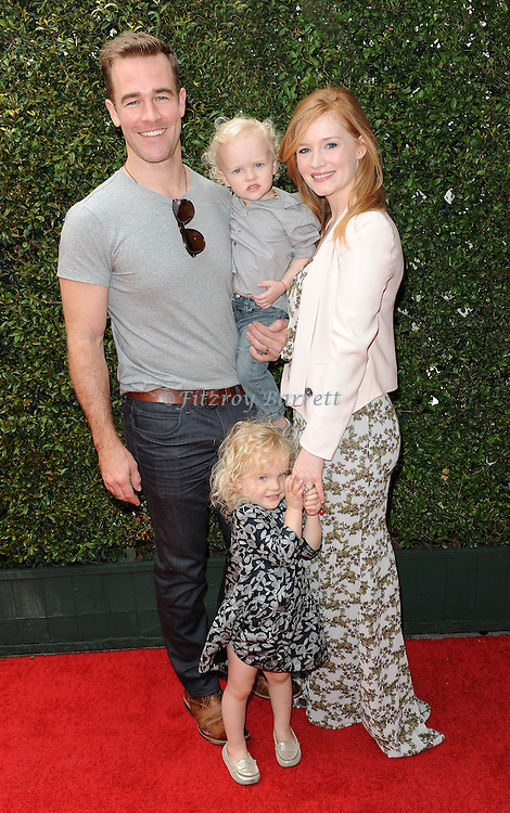 James Van Der Beek and family attends the John Varvatos 11th Annual Stuart House Benefit held in West Hollywood CA. April 13, 2014.