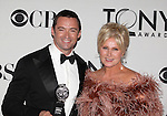 Hugh Jackman; Deborra-Lee Furness pictured at the 66th Annual Tony Awards held at The Beacon Theatre in New York City , New York on June 10, 2012. © Walter McBride / WM Photography