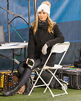 ESPN sideline reporter Laura Rutledge. The North Carolina Tarheels defeated the Pitt Panthers football team 34-31 at Heinz Field, Pittsburgh, Pennsylvania on November 9, 2017.