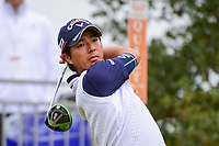 Ryo Ishikawa (JPN) watches his tee shot on 10 during round 3 of the Valero Texas Open, AT&amp;T Oaks Course, TPC San Antonio, San Antonio, Texas, USA. 4/22/2017.<br /> Picture: Golffile | Ken Murray<br /> <br /> <br /> All photo usage must carry mandatory copyright credit (&copy; Golffile | Ken Murray)
