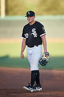 AZL White Sox first baseman Andrew Vaughn (20) during an Arizona League game against the AZL Indians Blue on July 2, 2019 at Camelback Ranch in Goodyear, Arizona. AZL Indians Blue defeated the AZL White Sox 10-8. (Zachary Lucy/Four Seam Images)