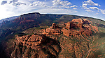 Red Rocks of Sedona Arizona Helicopter Aerial Fisheye View one frame of a 5 shot 360 degree spherical panorama
