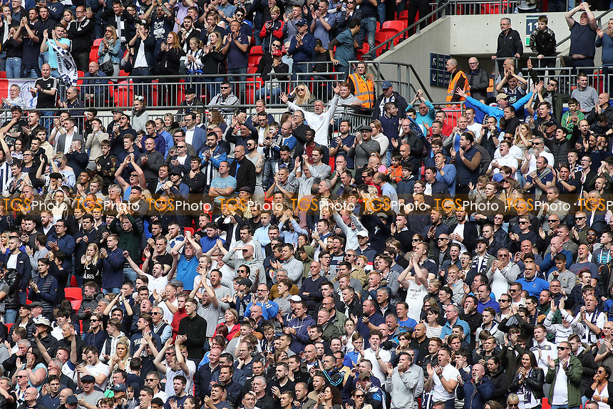 Millwall fans during Bradford City vs Millwall, Sky Bet EFL League 1 Play-Off Final at Wembley Stadium on 20th May 2017