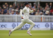 7th September 2017, Lords Cricket Ground, London, England; International Test Match Series, Third Test, Day 1; England versus West Indies; Mason Krane of England chases a boundary shot