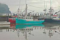 Fishing boats in fog<br />