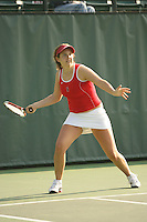 25 January 2007: Celia Durkin during Stanford's 7-0 win over UC Davis at the Taube Family Tennis Stadium in Stanford, CA.