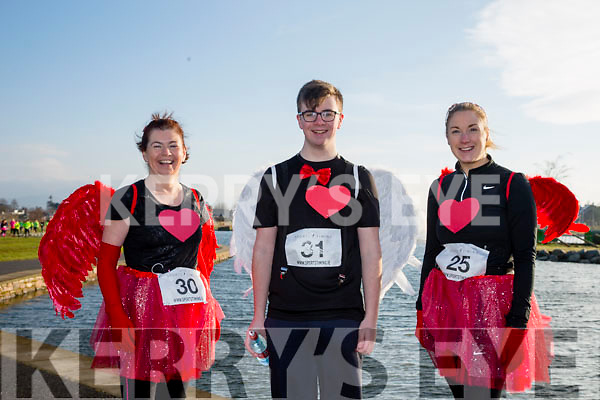 Betty Brosnan, Jesse Brosnan and Edel Broderick, participants who took part in the Kerry's Eye Valentines Weekend 10 mile road race on Sunday.