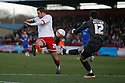 Chris Beardsley of Stevenage almost deflects  Lee Butcher of Leyton Orient's clearance into the goal.- Stevenage v Leyton Orient - npower League 1 - Lamex Stadium, Stevenage - 2nd January 2012  .© Kevin Coleman 2012