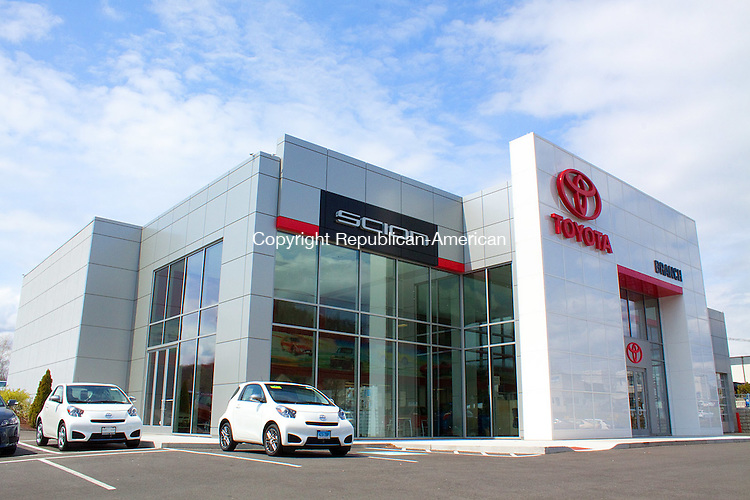 MIDDLEBURY APRIL CT- 11 APRIL 2011-041112DA05- A look at the newly renovated main facility of Branch Toyota on Straits Turnpike in Watertown on Wednesday..Darlene Douty Republican American