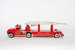 Vintage toy metal Red Fire Engine Hook and Ladder truck