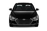 Car photography straight front view of a 2018 Hyundai Elantra Limited 4 Door Sedan