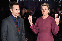 "Sam Rockwell and Frances McDormand<br /> arriving for the London Film Festival 2017 closing gala of ""Three Billboards"" at Odeon Leicester Square, London<br /> <br /> <br /> ©Ash Knotek  D3337  15/10/2017"