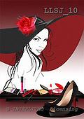 Sinead, MODERN, paintings, LLSJ10,#n# moderno, arte, illustrations, pinturas ,everyday