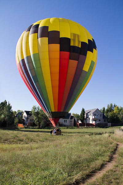 Hot air balloon, Boulder, Colorado, USA.
