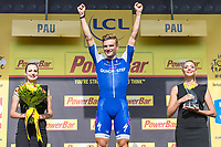 Picture by Alex Whitehead/SWpix.com - 11/07/2017 - Cycling - Le Tour de France - Stage 11, Eymet to Pau - Marcel Kittel of Quick-Step Floors celebrates his fifth stage win of this years tour.