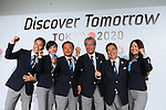 (L to R) <br /> Yuki Ota, <br /> Christel Takigawa, <br />  Naoki Inose, <br /> Tsunekazu Takeda, <br /> Masato Mizuno, <br /> Mami Sato, <br /> SEPTEMBER 7, 2013 : <br /> A press conference after Tokyo was announced as the winning city bid for the 2020 Summer Olympic Games at the 125th International Olympic Committee (IOC) session in Buenos Aires Argentina, on Saturday September 7, 2013. (Photo by YUTAKA/AFLO SPORT) [1040]