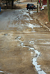 WATERBURY , CT-011519JS07- Residents have complained about the build up of ice that occurs on Spring Brook Road in Waterbury. <br /> Jim Shannon Republican American