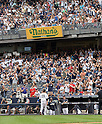 Masahiro Tanaka (Yankees),<br /> SEPTEMBER 21, 2014 - MLB :<br /> Fans applaud Masahiro Tanaka of the New York Yankees as he walks back to the dugout after being pulled in the sixth inning during the Major League Baseball game against the Toronto Blue Jays at Yankee Stadium in Bronx, New York, United States. (Photo by AFLO)