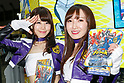 Booth assistants pose for a photograph during the AnimeJapan 2017 at Tokyo Big Sight on March 25, 2017, Tokyo, Japan. AnimeJapan 2017 is a trade show promoting ''Everything Anime'' to local and foreign fans and businesses. The show is held over four-day days with March 23-24 reserved for business visitors and March 25-26 for the public. It is expected to attract some 120,000 visitors, including cosplayers. (Photo by Rodrigo Reyes Marin/AFLO)