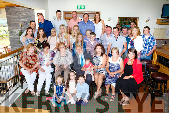 Kathleen Dennehy, Killorglin seated third from left celebrated her 80th birthday with her family and friends in the Killorglin golf clubhouse on Saturday