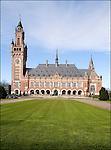 Nederland, Den Haag, 12-04-2006. Vertikaal exterieur  van Vredespaleis, 60 jarig bestaan van het gerechtshof..© foto Michael Kooren/Hollandse Hoogte.