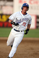 July 6th 2008:  First round draft pick David Cooper of the Auburn Doubledays, Class-A affiliate of the Toronto Blue Jays, during a game at Falcon Park in Auburn, NY.  Photo by:  Mike Janes/Four Seam Images
