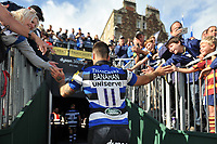 Matt Banahan of Bath Rugby leaves the field after the match. Aviva Premiership match, between Bath Rugby and Saracens on September 9, 2017 at the Recreation Ground in Bath, England. Photo by: Patrick Khachfe / Onside Images