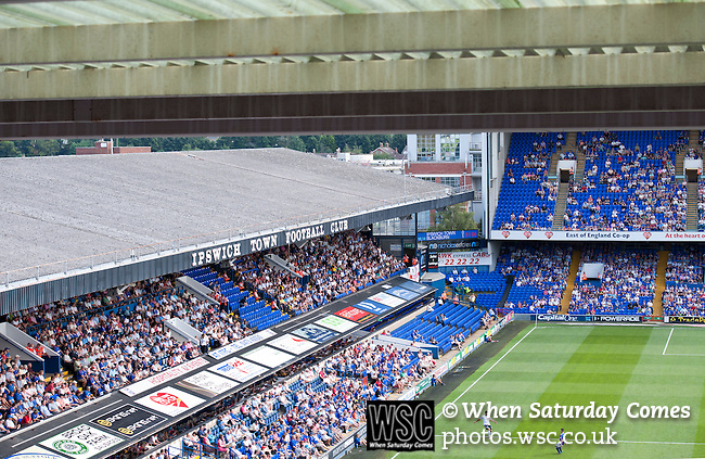Ipswich Town 1 Blackburn Rovers 1, 18/08/2012. Portman Road, Championship. Blackburn visit Suffolk for their first game back in the Championship. View towards the Cobbold and Sir Alf Ramsey Stand. Photo by Simon Gill.