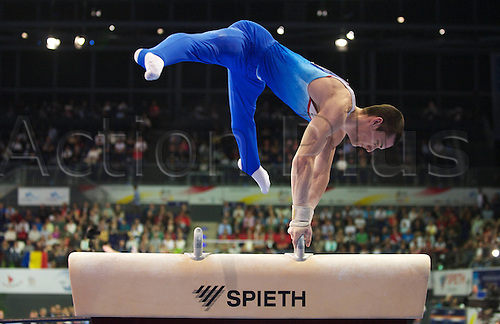 08 04 2011  Gymnastics Berlin 08 04 2011 European Championship euro  Final men Pommel Horse  Cyril Tommasone FRA Gymnastics Artistic