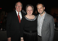 NWA Democrat-Gazette/CARIN SCHOPPMEYER Reed and Mary Ann Greenwood, TheatreSquared 2016 Arts Advocates of the Year honorees stand with Martin Miller, TheatreSquared executive director at the group's Gala for Education on Nov. 3 at the Fayetteville Town Center.