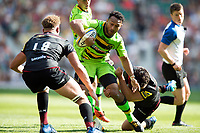 Nafi Tuitavake of Northampton Saints takes on the Saracens defence. Aviva Premiership match, between Saracens and Northampton Saints on September 2, 2017 at Twickenham Stadium in London, England. Photo by: Patrick Khachfe / JMP