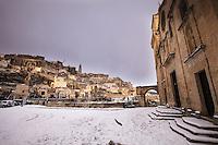 Europe,Italy,Basilicata, Matera, capital of Culture, World Heritage Site, Church San Pietro caveoso,