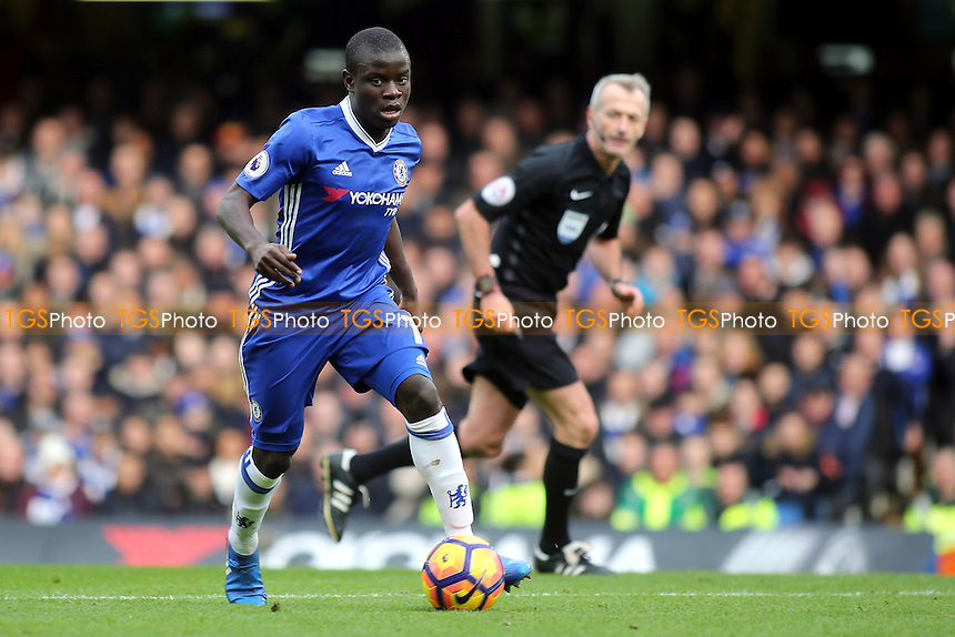 N'Golo Kante of Chelsea in action during Chelsea vs Arsenal, Premier League Football at Stamford Bridge on 4th February 2017