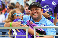 Orlando, FL - Sunday June 26, 2016: Fans  during a regular season National Women's Soccer League (NWSL) match between the Orlando Pride and the Portland Thorns FC at Camping World Stadium.